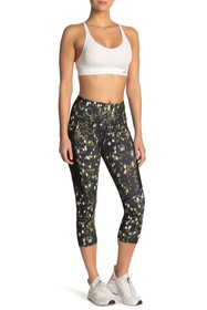C & C California Printed Mesh Pocket Capri Legging