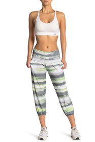 C & C California Printed Foldover Cropped Leggings