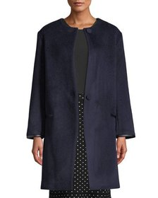 Club Monaco Gabita Collarless Two-Button Wool Coat