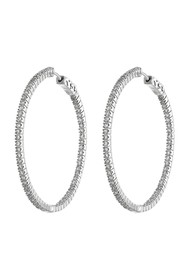 CZ By Kenneth Jay Lane CZ Inside-Out 50mm Hoop Ear