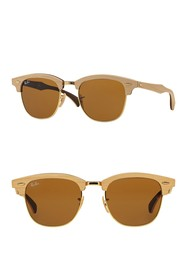 Ray-Ban 51mm Wood Clubmaster Sunglasses