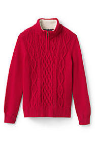 Lands End Boys Half Zip Sweater
