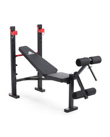 ADIDAS Bench With Barbell Holders And Leg Curl