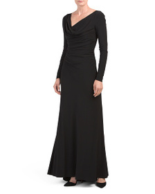 reveal designer Ruched Jersey Gown