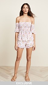 Kos Resort Off Shoulder Top and Shorts Set