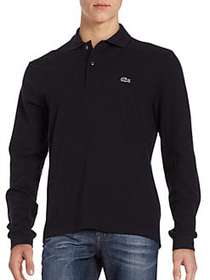 Lacoste Pique Polo Shirt BLACK