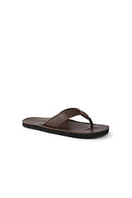 Lands End Men's Leather Flip Flop Sandals