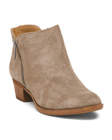 LUCKY BRAND Suede Perforated Ankle Booties