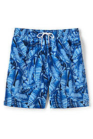 "Lands End Men's 6"" Print Volley Swim Trunks"