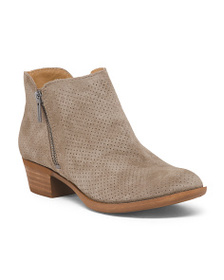 LUCKY BRAND Perforated Ankle Suede Booties