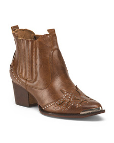 WANTED Western Inspired Pointy Toe Booties