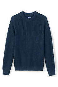 Lands End Men's Lighthouse Shaker Crew Sweater