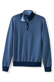Lands End Men's Herringbone Fine Gauge Supima Cott