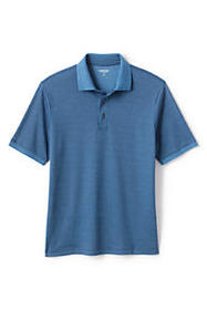 Lands End Men's Short Sleeve Supima Jacquard Polo