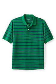 Lands End Men's Short Sleeve Stripe Mesh Polo Shir