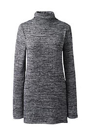 Lands End Women's Plus Size Long Sleeve Mock Neck