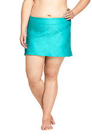 Lands End Women's Texture SwimMini Skirt