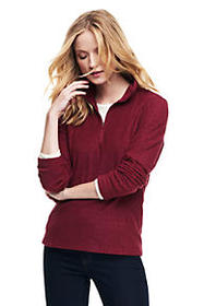 Lands End Women's Fleece Quarter Zip Pullover