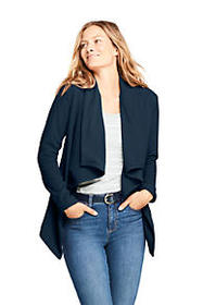 Lands End Women's Waterfall Fleece Cardigan