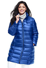 Lands End Women's Plus Size Lightweight Down Coat