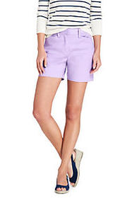 "Lands End Women's Mid Rise 5"" Chino Shorts"