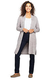 Lands End Women's Long Sleeve Knit Duster Cardigan