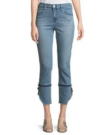 J Brand Ruby High-Rise Cropped Cigarette Jeans Pat
