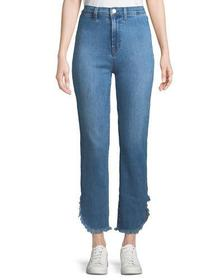J Brand Stovepipe High-Rise Straight-Leg Jeans w/