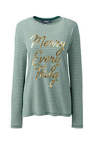 Lands End Women's Plus Size Long Sleeve Christmas