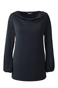 Lands End Women's Plus Size Soft Cowl Top