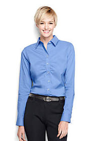 Lands End Women's Ruched Front Stretch Shirt