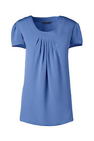 Lands End Women's Pleated Soft Blouse