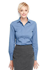 Lands End Women's Pleat Front Stretch Shirt