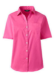 Lands End Women's Short Sleeve Stretch Shirt With