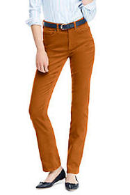 Lands End Women's High Rise Straight Leg Corduroy