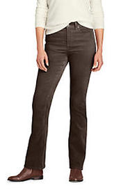 Lands End Women's Mid Rise Corduroy Bootcut Pants