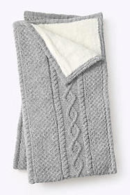 Lands End Chenille Sherpa Throw