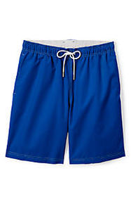 "Lands End Men's 8"" Solid Volley Swim Trunks"