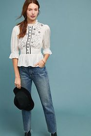 Anthropologie Meila Embroidered Blouse