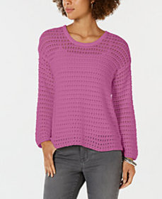 Style & Co Cotton Pointelle Sweater, Created for M