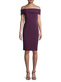 Calvin Klein Off-the-Shoulder Sheath Dress AUBERGI