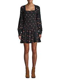 Free People Two Faces Mini Dress BLACK