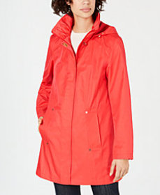 Jones New York Hooded Snap-Button Raincoat