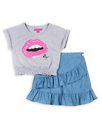 Betsey Johnson Little Girl's Two-Piece Smocked Top