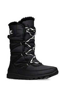Sorel Whitney Tall Faux-Fur Winter Boots BLACK