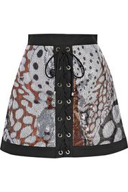 ROBERTO CAVALLI Stretch twill-trimmed sequined mes