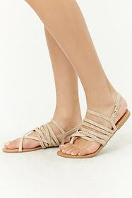 Forever21 Qupid Strappy Flat Sandals