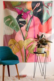 Colorblock Palms Tapestry