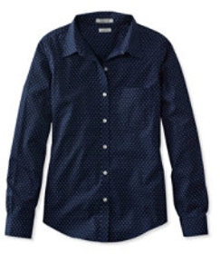 LL Bean Wrinkle-Free Pinpoint Oxford Shirt, Long-S