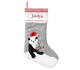 Pottery Barn Panda Quilted Stocking